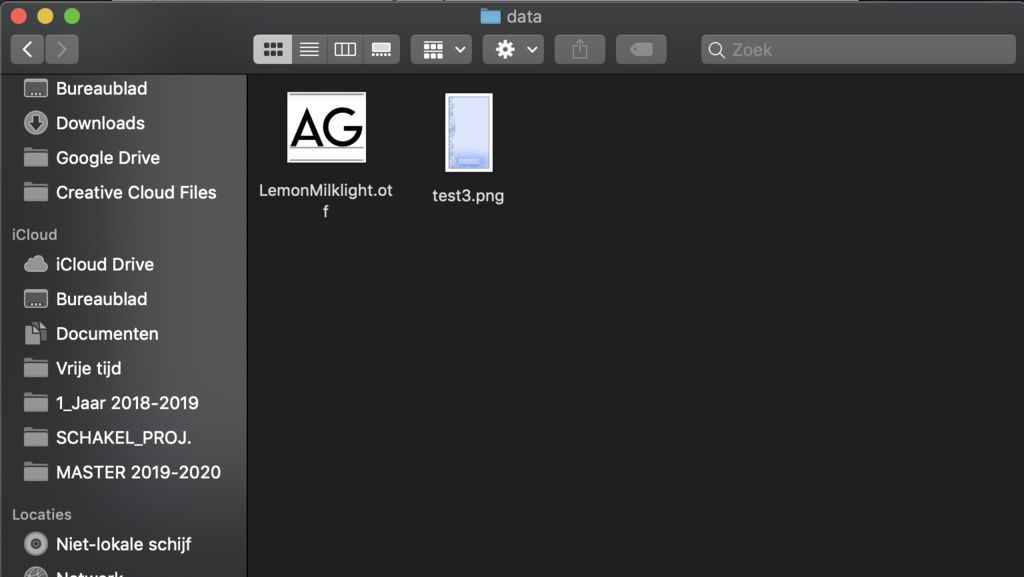 Picture of New Sketches in Processing + Data Folder