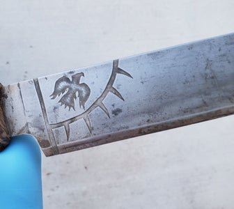 Salt Water Etching Steel - Knives, Axes, Pacifiers, Etc