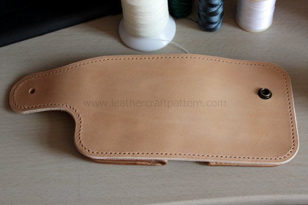 Picture of Punch Holes Around on Glued Surface and Lining, Sew Them Together.