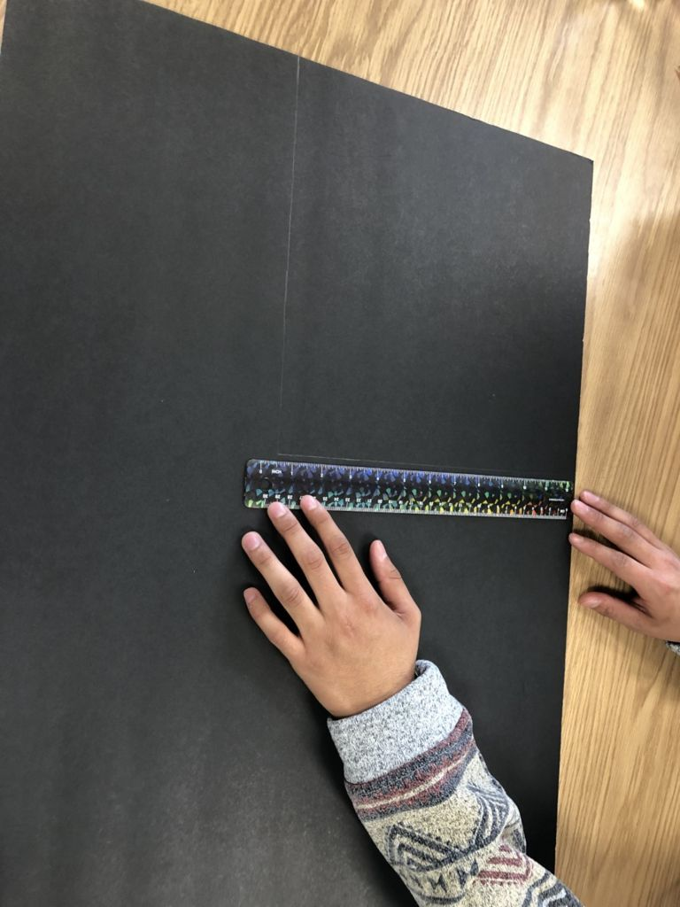 Picture of Measuring and Cutting Black Cardboard