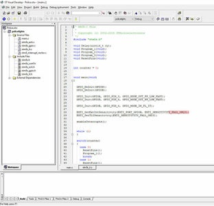 Figure 8: the ST Visual Develop IDE