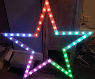 Larger and Improved Christmas Star Neopixel Attigny85