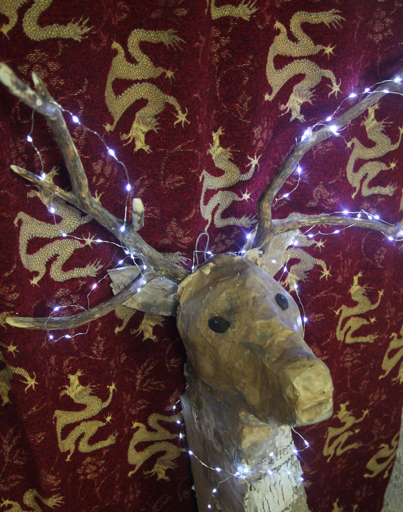 Picture of Cardboard Deer's Head Wall Light