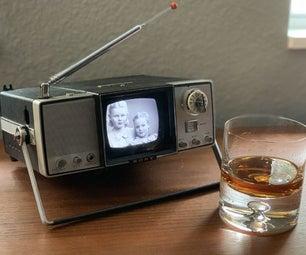 复古电视随着树莓派