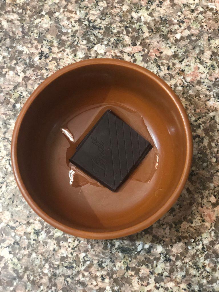 Picture of Keto Dessert. Lindt Velvet Ganache