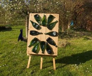 苹果酒瓶子数字时钟