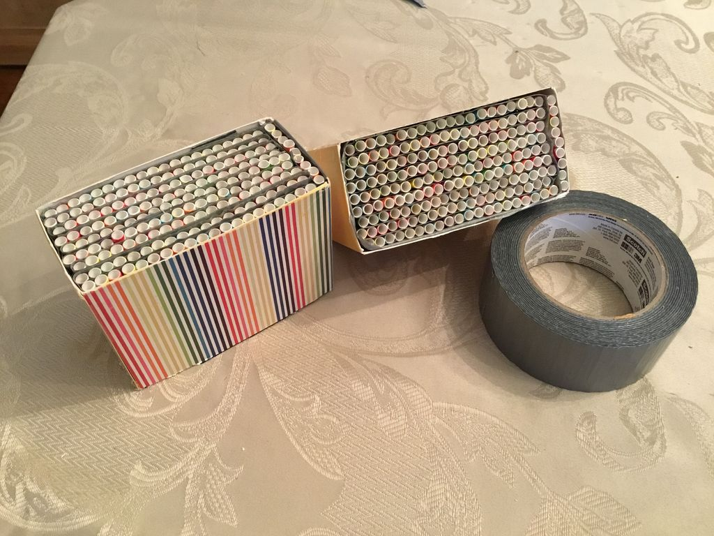 Picture of Tape the Straw Groups Together