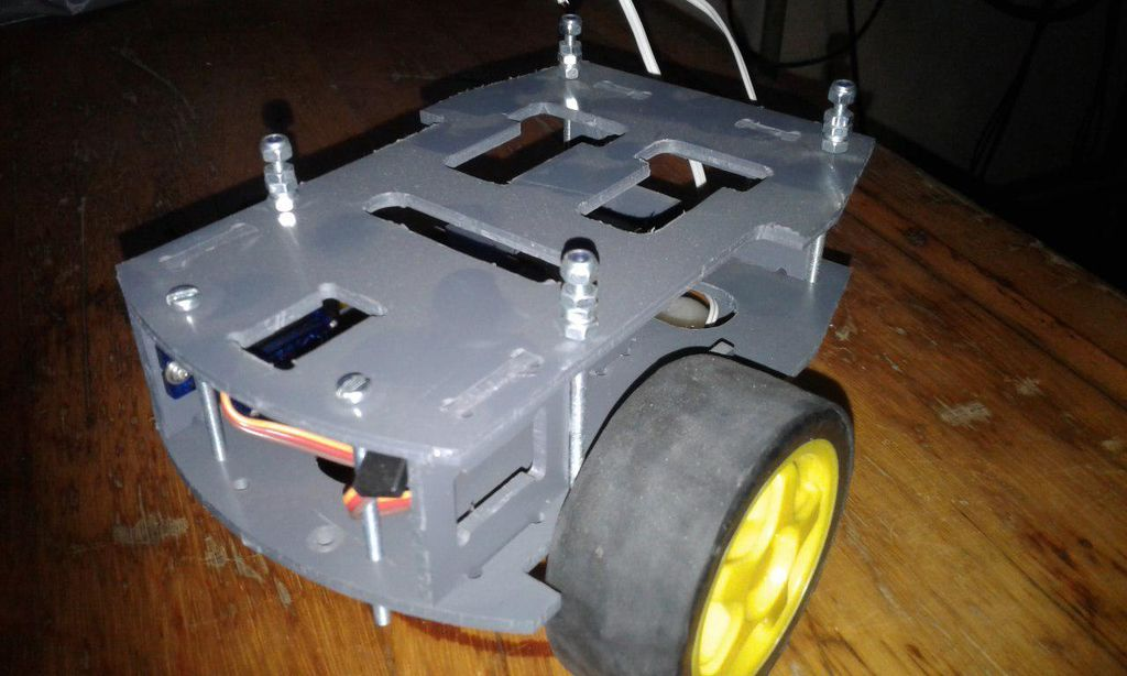 Picture of Build the Chassis With the Bumpers, Program It and Watch It Go...