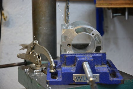Drilling and Tapping for the Clamping Bolts.