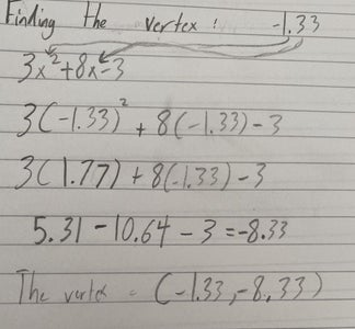 How to Find the Vertex of a Quadratic From Standard Form: