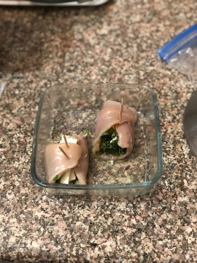 Picture of Spinach and Chicken Roll Ups