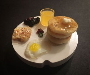 Edible Tiny Pancake Breakfast
