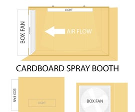 DIY Cardboard Spray Booth