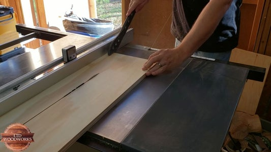 Cut Plywood to Size.