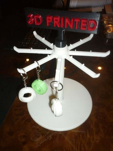 Rotating Stand for Keychains