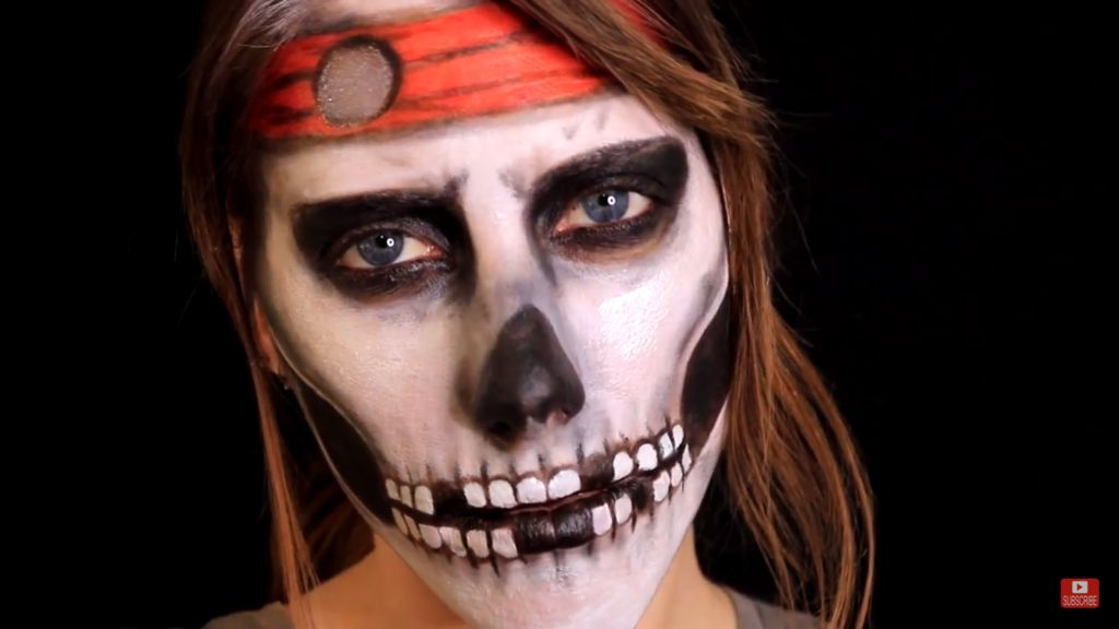 Picture of DOLLAR TREE PIRATE SKULL MAKEUP
