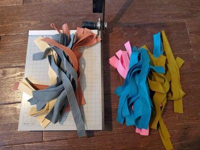 Cut Wool Felt Into Strips