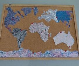 Bulletin Board World Map