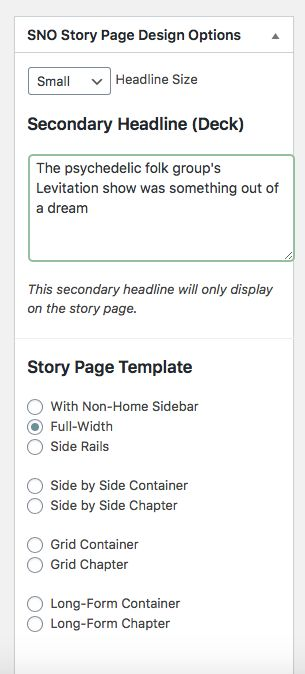 Picture of Edit Page Design Options