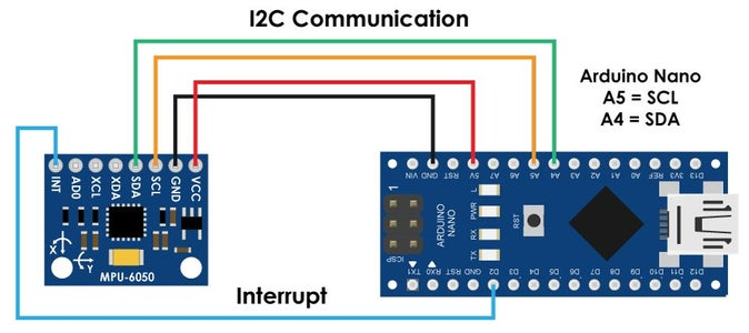 Connecting Your MPU6050 to Your Arduino Nano