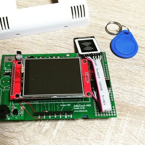 Mounting of ArduiTouch PCB
