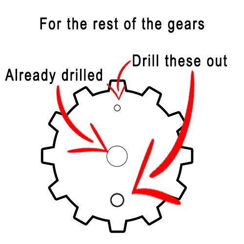 Picture of ASSEMBLING THE TENTACLE STRUCTURE - Drilling the Gears