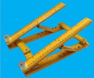 可折叠笔记本电脑支架-使用木制尺子