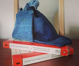 How to Make a Deerstalker Hat Out of Denim and a Shopping Bag.