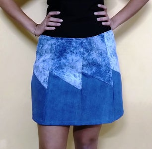 A-line Skirt From Old Jeans