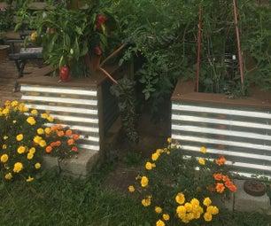 时髦的钢质花园苗床