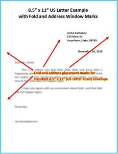 Open the MS Word Fold and Window Mark Template, and Write Your Letter