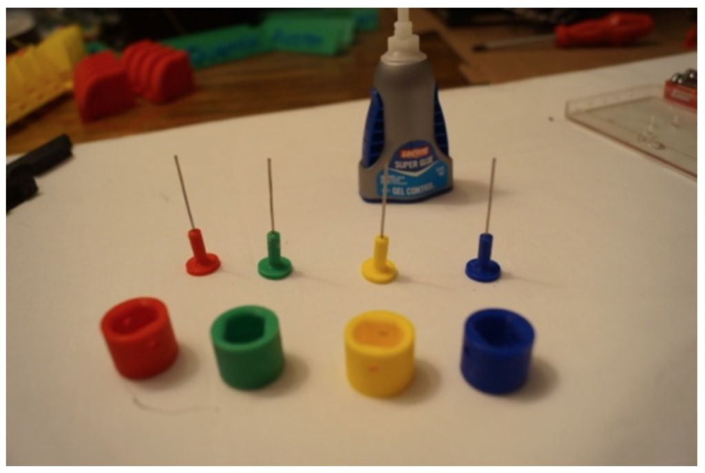 Picture of Glue Rods Into Pistons
