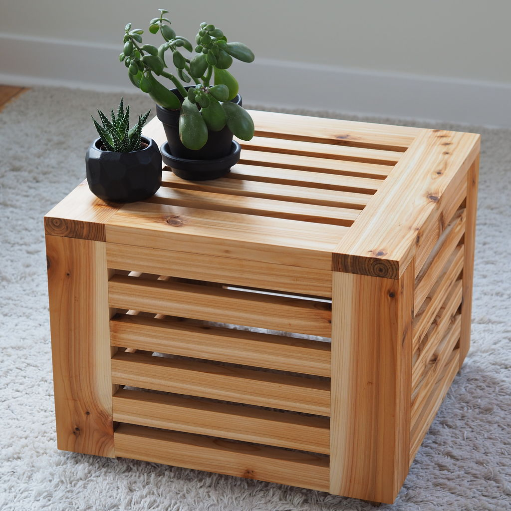 Picture of Slatted Cube Table