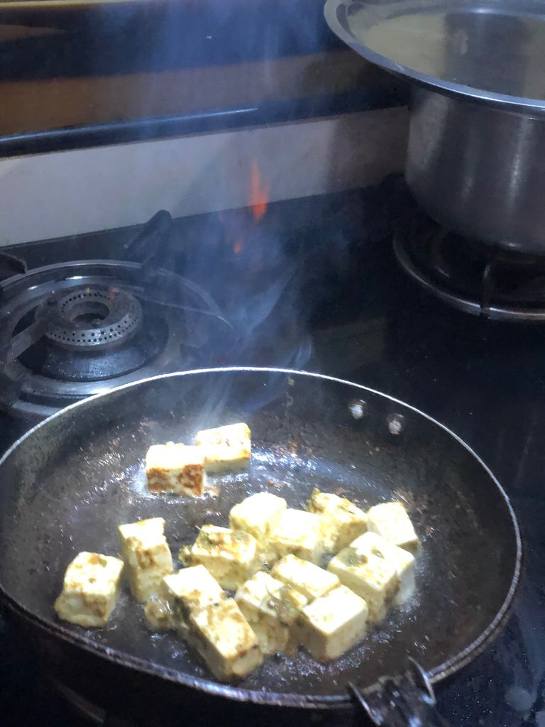 Picture of For the Paneer Tikka With Roasted Peanuts.