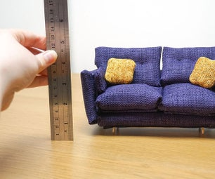 DIY Miniature Sofa!   How to Make Your Own Tiny Comfy Couch
