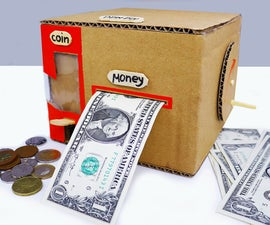 Make Smart Personal Bank Saving Coin and Cash From Cardboard