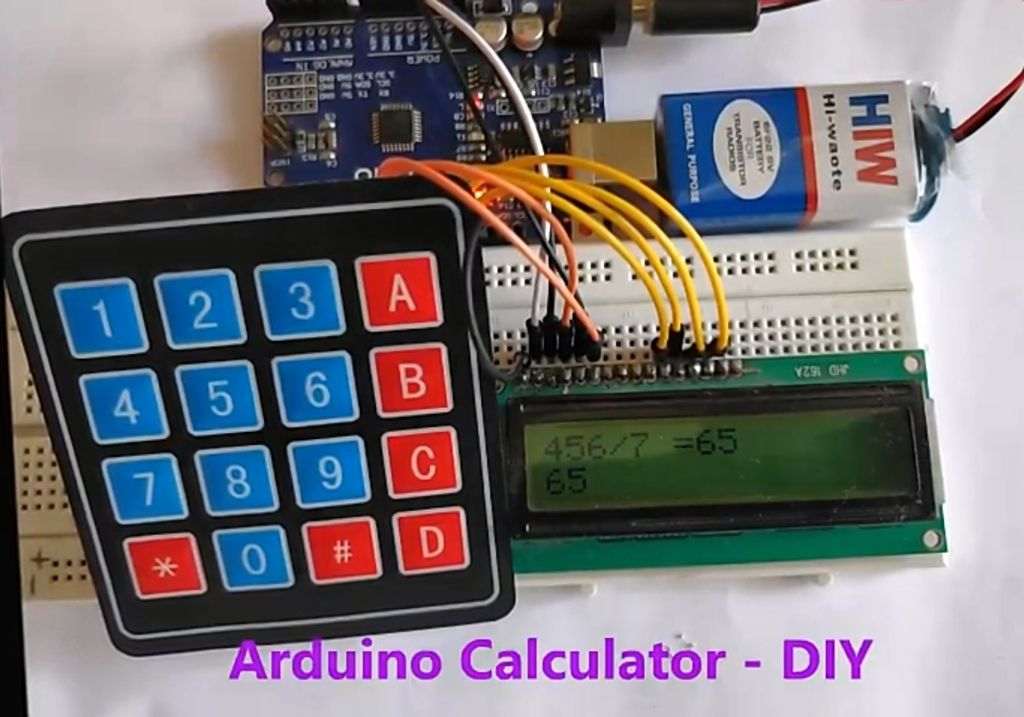 Picture of Calculator Output