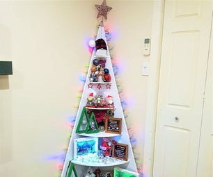 How to Make a Corner Christmas Tree Shelf
