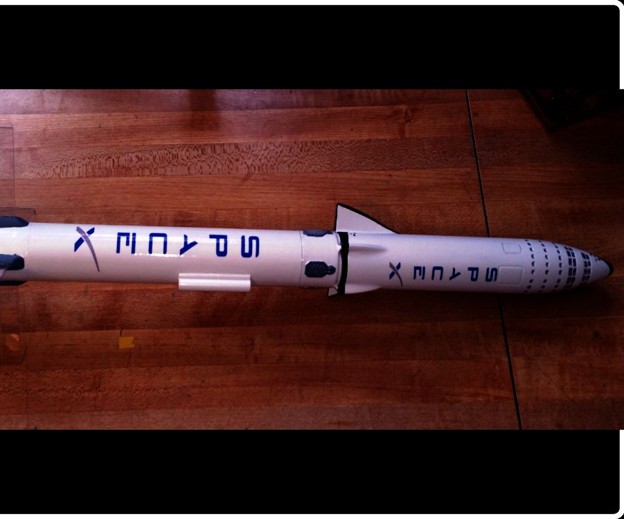 Flying Model Rocket From a 3D Scale Model thumbnail
