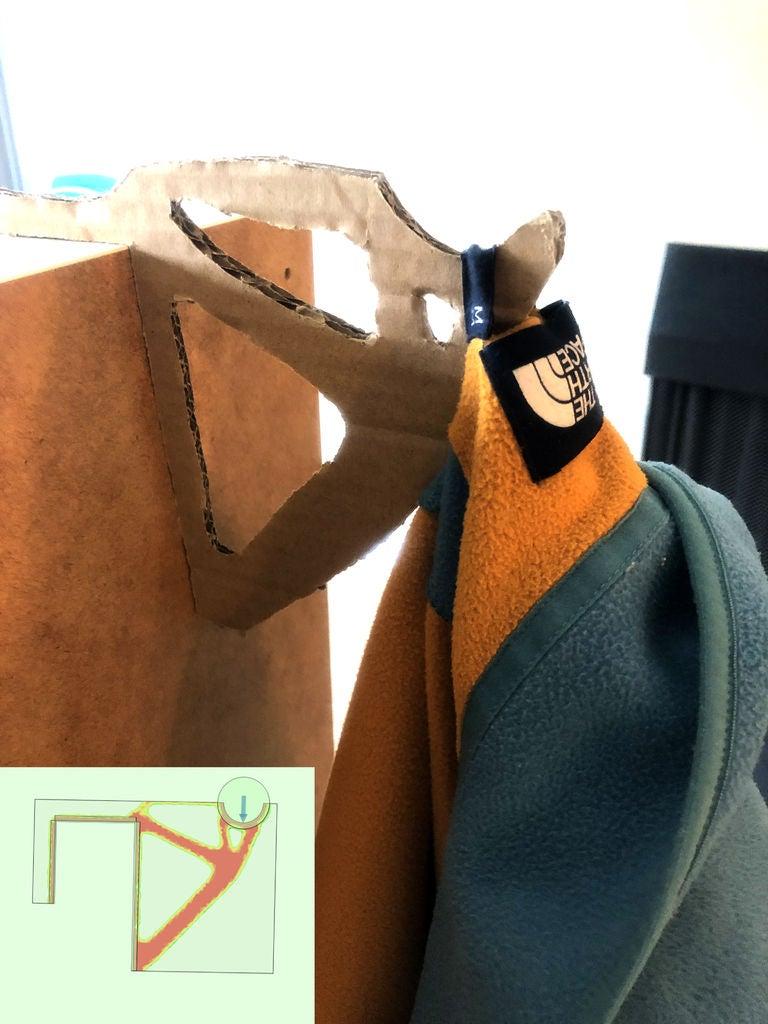 Picture of Cardboard Door/cubical Coat Hanger