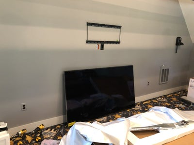 Hanging the TV and Entertainment Shelf