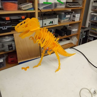 A Nearly Invisible Tyrannosaurus Rex Made on a Laser Cutter