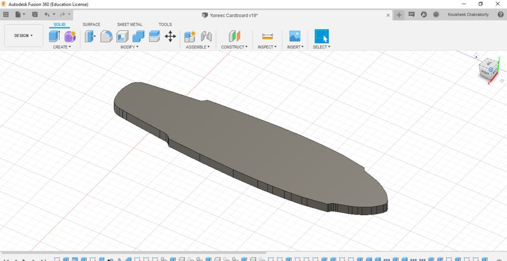 Picture of Designing the 3d Profile of the Deck