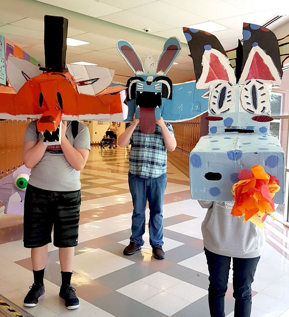 Picture of Wayne White Inspired Cardboard Masks