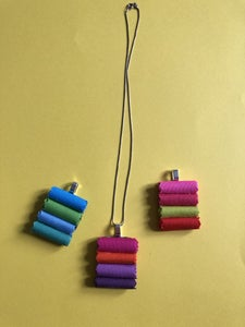 Fabric Swatch Necklace Pendant