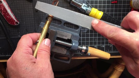 Use a File to Clean Up and Get Rid of Flare, Screw in Drill Chuck