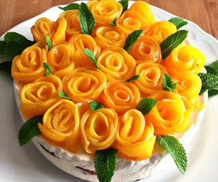Peach Flower Cheesecake