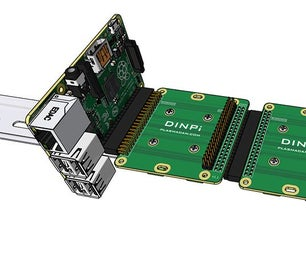 DINPi - DIN Rail Mount for Raspberry Pi