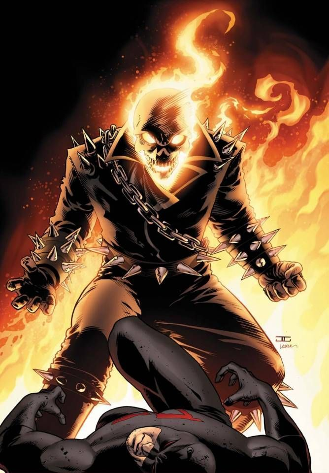 Picture of UV Flaming Ghost Rider Wall Bust