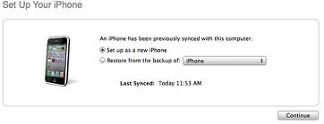 Picture of Restore to a Fresh 5.1.1. Firmware